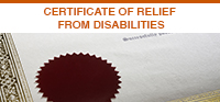 Certificate of Relief From Disabilities
