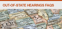Out of state Hearing FAQs